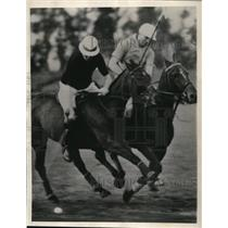 1936 Press Photo California polo players vs British All Stars at Alhambra Calif