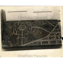 1925 Press Photo Model of a cottage for kids Childrens Bureau of Dept of Labor