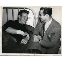 1939 Press Photo Boxer Fred Apostoli saved youth Joe Jennessey at accident San F