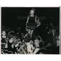 1937 Press Photo James Braddock & Nanette Wright Junior Skate Ballet - nes34654