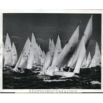 1968 Press Photo Nordic Volksboats start race of Kiel Regatta in Germany