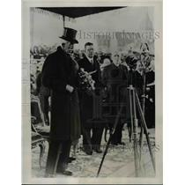 1935 Press Photo King Gustav of Sweden & Crown Prince Gustav Adolf - nee78333