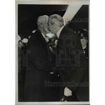 1938 Press Photo King Christian of Denmark & King Gustav of Sweden at Stockholm