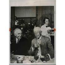 1935 Press Photo King Gustav of Sweden & Pep Albin Hansson Prime Minister