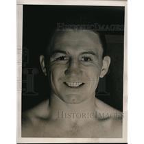 1940 Press Photo Pete Lello boxer at workout at NYC Stillmans Gym - nes34795