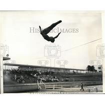 1936 Press Photo Richard DeGener in National Springboard championships