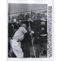 1958 Press Photo Paul Richards of Orioles & Casey Stengel of Yankees at NYC