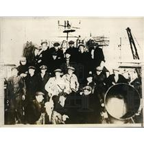 1928 Press Photo Crew of Giant Russian Ice Breaker Krassin Rescue Crew Members