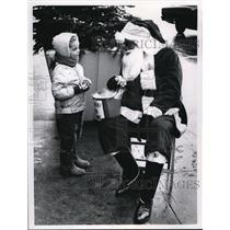1968 Press Photo James Robinson as Santa Clause on Public Square - cva41590