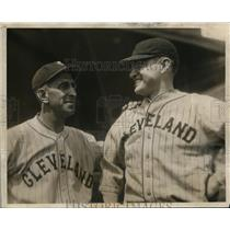 1931 Press Photo Cleveland Indians mgr. Roger Peckinpaugh & player Eddie Morgan