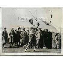 1931 Press Photo Jose Jurado teeing off at British Open