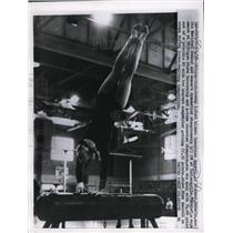 1958 Press Photo Ernestine Russell at AAU Women's Gymnastics championship