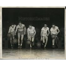 1931 Press Photo Northwestern basketball: Joe Reiff, Bob McCarnes, Bus Smith