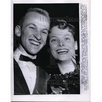 1957 Press Photo David Jenkins & Carol Heiss USA figure skaters in Colorado