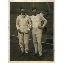 1924 Press Photo V. B. V. Powell & A. G. G. Marshall of Cambridge relay team
