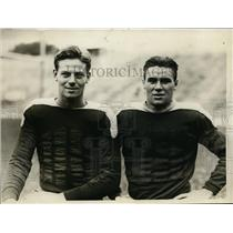 1930 Press Photo Shep Wolff and W. T. McCall of Dartmouth University football