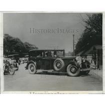 1934 Press Photo Crown Prince Akihito Tsugo of Japan Taken to Palace To See Gran