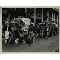 1939 Press Photo Boy Scout Parade with Elephants. - nee78956
