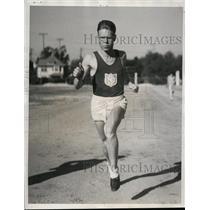 1933 Press Photo Al Fitch University of Southern California track team