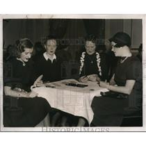 1937 Press Photo Women's Team of the National Bridge Championshio at Washington.