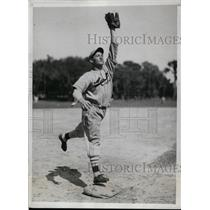 1934 Press Photo William H Myers infielder of St Louis Cardinals spring training