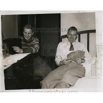 1934 Press Photo Canadian cyclist WilliamTorchy Peden & his sister Eleanor Peden