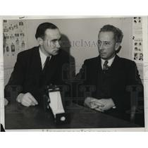 1934 Press Photo Jean Bechtel, Police Reporter and Harold V. Monthfort.