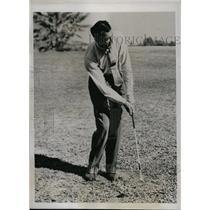 1937 Press Photo Vic Ghezzi in the Nassau Open golf at Deal New Jersey