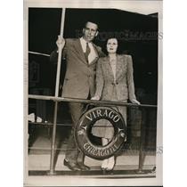 1940 Press Photo Mr. and Mrs. John W. Bailey Battle Creek, MI Florida Honeymoon