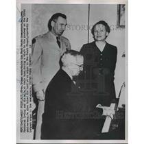 1920 Press Photo President Truman Entertains Maj. Gen. Frederick And His Wife