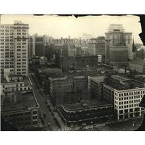 1925 Press Photo aerial view of downtown Cleveland - cva83236