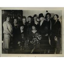 1928 Press Photo Mrs. Herbert Hoovers at the Republican Womens' Club.