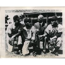 1948 Press Photo Athletics spring training in Fla Connie Mack,A Kellner