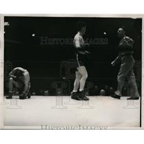 1938 Press Photo Young Corbett gets a TKO versus Apostoli - nes38672 - nes38672