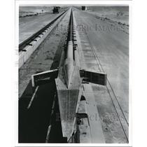 1960 Press Photo Rocket Research Sled - cva74824