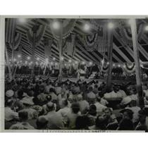 1938 Press Photo Cornfield Rally Conference Crowd in Indiana  - nee69749