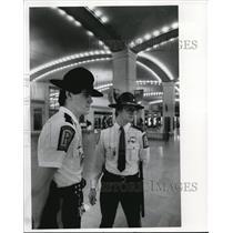 1983 Press Photo Security Guards at Tower City Union Terminal Tower. - cva94514