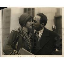 1927 Press Photo Boston Tessiah Block with her father William  - nee63101