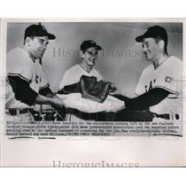 1952 Press Photo Cardinal training at Phoenix AZ,Bobby Hoffman,Ron Samford