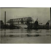 1925 Press Photo View in the Cleveland Dock and Harbor - cva96646