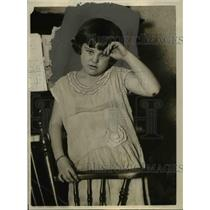 1925 Press Photo Muriel Sirrine Wanted Sister For Birthday Brought Home Baby