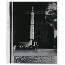 1958 Wire Photo The Army's Jupiter-C missile will be launched Cape Canaveral FL