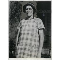 1934 Press Photo Ida Mae Stull, 34, only woman coal miner lost her job.