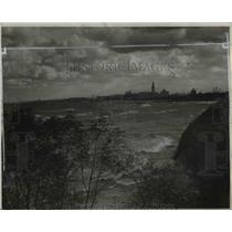 1932 Press Photo Cleveland Skyline - cvb00117