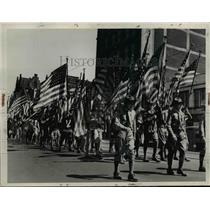 1939 Press Photo Boy Scout Flag Parade.  - nee80960