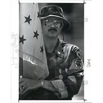 1989 Press Photo Tomas Lenart, a Vietnam Veteran - cva99249