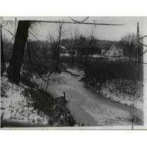 1940 Press Photo Tinkers Creek, Valley View Village, Ohio - cvb03241