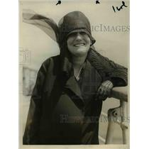 1923 Press Photo Mrs. Theodore Roosevelt Arriving In New York City On Majestic.