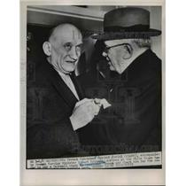 1921 Press Photo French President Vincent Auriel and Robert Schuman - nee61523