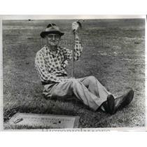 1960 Press Photo Robert Washington of Miami Celebrates 100th Birthday